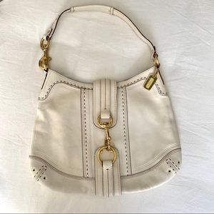 Coach White Shoulder Purse